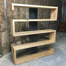Serpentine bookcase - Woodworking Project by Indistressed