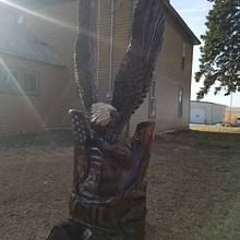 6' eagle and flag - Woodworking Project by Carvings by Levi