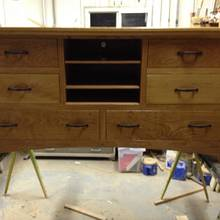 son's tv stand and dresser combo - Woodworking Project by Bill