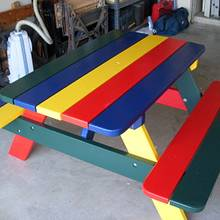 Colorful Kids Picnic table - Woodworking Project by Dorald