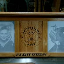 My Latest, US Navy Veteran shelf/picture frames - Woodworking Project by Rickswoodworks