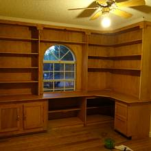 Built in office. - Woodworking Project by Angelo