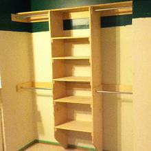 Closet Organizer - Woodworking Project by Railway Junk Creations