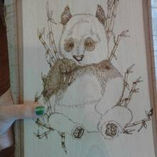 WIP Panda with Bamboo - Woodworking Project by CharleeAnn
