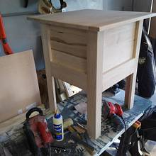 Night stands unfinished.. - Woodworking Project by Galvipa