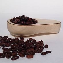 Hard maple coffee scoop with burnt edge highlights - Woodworking Project by Justsimplywood