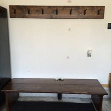 Bench and coat rack - Woodworking Project by Sheri Noble, woodworking at it's finest!