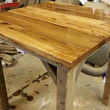 "42"" rustic pub table - Woodworking Project by flashfire"