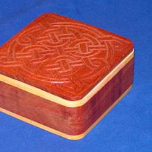 Chip Carved Celtic Box - Woodworking Project by Celticscroller