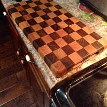 Checker Board design cutting board - Woodworking Project by Jeff Moore