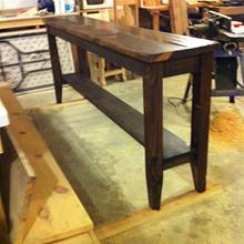 7' Side Table - Woodworking Project by Wowrustics