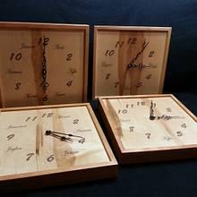 Clocks (Grandkids names) - Woodworking Project by Jeff Vandenberg