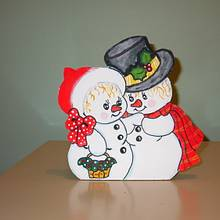 Snowman and snow lady - Woodworking Project by Darlene