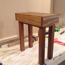 Small teak shower bench - Woodworking Project by Roushwoodworking