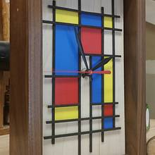 Mondrian style clock - Woodworking Project by VKD