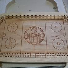 Hockey Theme Cribbage Board - Woodworking Project by Chris Tasa