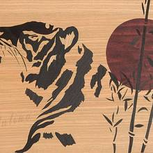 Japanese style tiger marquetry - Woodworking Project by Andulino