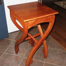 """Pirouette"" Table I call Crazy Legs - Woodworking Project by oldrivers"