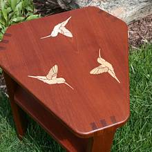 Triangular Hummingbird Table - Woodworking Project by Roger Gaborski