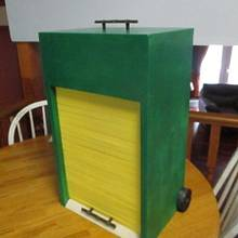 Hot wheels Garage with roll up door - Woodworking Project by Bill T