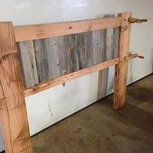 Queen barn wood headboard - Woodworking Project by Boone's Woodshed