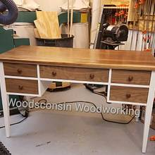 Daughter's Desk Build  - Woodworking Project by Jeff Vandenberg