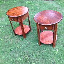 Two end tables - Woodworking Project by santabill
