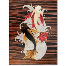 Koi fish marquetry picture - Woodworking Project by Andulino