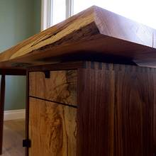 Slab Desk - Woodworking Project by Manitario