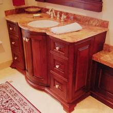 Mahogany Bathroom Cabinetry  - Woodworking Project by Steve66