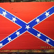 confederate battle flag - Woodworking Project by barnwoodcreations