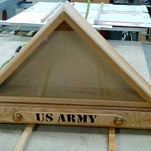 US ARMY Memorial Flag Case with Drawer  - Woodworking Project by Rickswoodworks