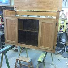 audio cabinet - Woodworking Project by Bill