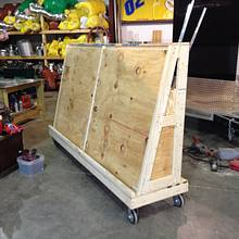 Mobile Cart - Woodworking Project by Dusty1