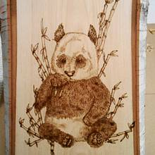 Panda with Bamboo Before the Paint - Woodworking Project by CharleeAnn