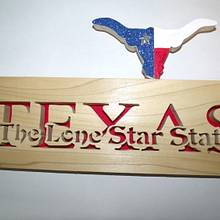 Texas plaque - Woodworking Project by Kepy