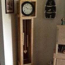 finish look-a-like grandfather clock - Woodworking Project by jim webster