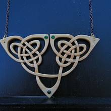 Curvy Celtic Pendant - Woodworking Project by Celticscroller