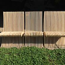 Scrapwood Rib modular bench that folds almost flat. - Woodworking Project by Arky