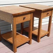 Craftsman style end tables - Woodworking Project by Tim Dahn