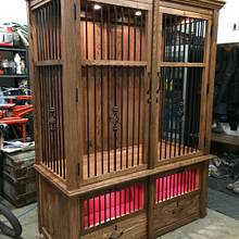 Rifle/hand gun cabinet - Woodworking Project by Sheri Noble, woodworking at it's finest!