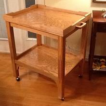 Coffee and tea serving cart for Blue Ridge Parkway Visitors Ctr. - Woodworking Project by Jack King