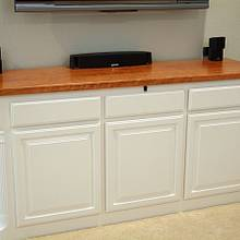 Low entertainment console - Woodworking Project by Bill