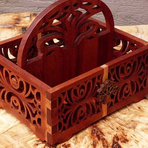 Scroll sawed basket - Woodworking Project by Celticscroller