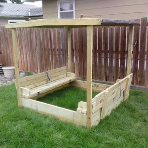 Childs Sand box - Woodworking Project by Rickswoodworks