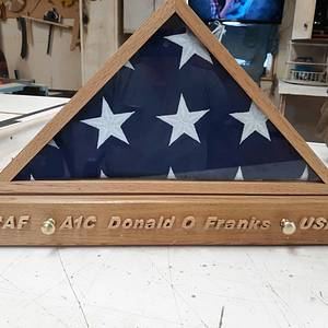 Dad's Funeral Flag and metal Display Case - Woodworking Project by Rickswoodworks