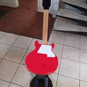 guitar bar stool I recently made - Woodworking Project by Kevin