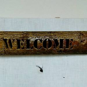 Mulberry welcome sign - Woodworking Project by Rickswoodworks