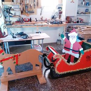 santa and deer yard a christmas - Woodworking Project by jim webster