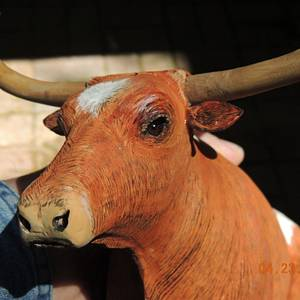 Texas Longhorn - Wood Carving - Woodworking Project by Rolando Pupo
